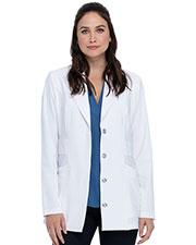 "Dickies Medical DK400 Women 28"" Notched Lapel Lab Coat at GotApparel"