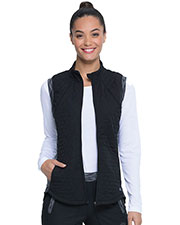 Dickies Medical DK510 Women Quilted Zip Front Vest at GotApparel
