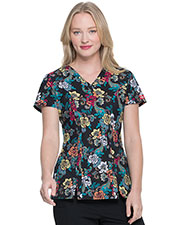 Dickies Medical DK656 Women V-Neck Top at GotApparel