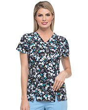 Dickies Medical DK702 Women V-Neck Top at GotApparel
