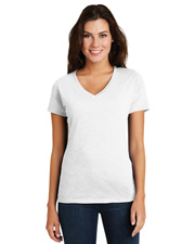 District Made DM3501 Women   Super Slub   V-Neck Tee at GotApparel