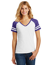 District Made DM476 Women Game V-Neck Tee at GotApparel