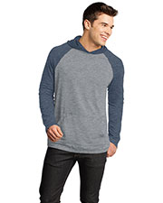 District DT128 Men 50/50 Raglan Hoodie at GotApparel