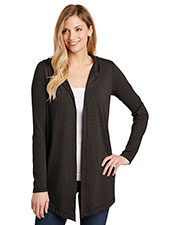 District DT156 Women 4.5 oz Tri Hooded Cardigan at GotApparel
