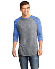 District DT162 Men Microburn 3/4-Sleeve Raglan Tee at GotApparel