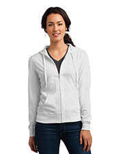 District DT2100 Women Lightweight Jersey Full-Zip Hoodie at GotApparel