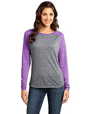 District DT262 Women Microburn Long-Sleeve Raglan Tee at GotApparel