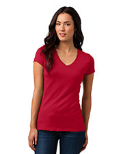 District DT4501 Women Vintage Wash V-Neck Tee at GotApparel