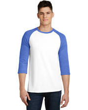 District Young DT6210 Men Very Important Tee 3/4-Sleeve Raglan at GotApparel