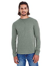 Custom Embroidered Econscious EC1588 Men Heather Sueded Long-Sleeve Jersey at GotApparel