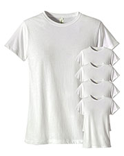 Custom Embroidered Econscious EC3000 Women 4.4 Oz. 100% Organic Cotton Classic Short-Sleeve T-Shirt 5-Pack at GotApparel
