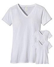 Custom Embroidered Econscious EC3052 Women 4.4 Oz. 100% Organic Cotton Short-Sleeve V-Neck T-Shirt 3-Pack at GotApparel