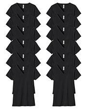 Custom Embroidered Econscious EC3052 Women 4.4 Oz. 100% Organic Cotton Short-Sleeve V-Neck T-Shirt 12-Pack at GotApparel