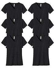 Custom Embroidered Econscious EC3052 Women 4.4 Oz. 100% Organic Cotton Short-Sleeve V-Neck T-Shirt 6-Pack at GotApparel