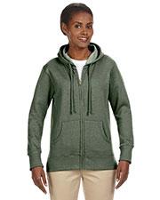 Custom Embroidered Econscious EC4580 Women 7 Oz. Organic/Recycled Heathered Fleece Full-Zip Hood at GotApparel
