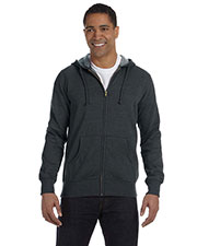 Custom Embroidered Econscious EC5680 Men 7 Oz. Organic/Recycled Heathered Full-Zip Hood at GotApparel