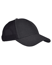 Custom Embroidered Econscious EC7093 Unisex Hemp Eco Trucker Recycled Polyester Mesh Cap at GotApparel