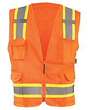 OccuNomix ECOATRN Men High Visibility Two-Tones Surveyor Mesh Vest at GotApparel