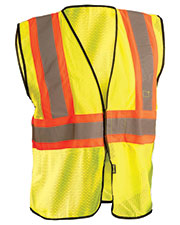 OccuNomix ECOGC2T Men High Visibility Value Two-Tone Safety Mesh Vest at GotApparel