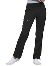 EL130P Mid Rise Straight Leg Pull-on Pant at GotApparel