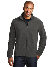 Port Authority F235 Men   Heather Microfleece Full-Zip Jacket at GotApparel