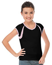 Big Girls 7-16 V Neck Cap Sleeve Split Raglan Top at GotApparel