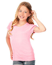 Big Girls 7-16 Scalloped Scoop Neck Top at GotApparel