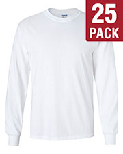 Gildan G240 Men Ultra Cotton 6 Oz. Long-Sleeve T-Shirt 25-Pack at GotApparel