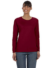 Gildan G540L Women Heavy Cotton 5.3 oz. Missy Fit Long-Sleeve T-Shirt at GotApparel
