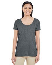 Gildan G6455L Women Softstyle® 4.5 oz. Deep Scoop T-Shirt at GotApparel