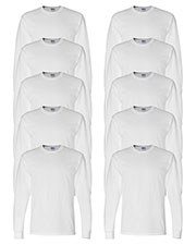 Gildan G840 Men Dryblend 5.6 Oz. 50/50 Long-Sleeve T-Shirt 10-Pack at GotApparel