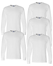 Gildan G840 Men Dryblend 5.6 Oz. 50/50 Long-Sleeve T-Shirt 5-Pack at GotApparel