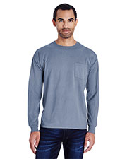Hanes GDH250 Men Garment-Dyed Long-Sleeve T-Shirt at GotApparel