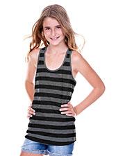 Big Girls 7-16 Striped Jersey Racer Back Tank at GotApparel