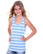 Big Girls 7-16 Striped Jersey Racer Back Tank at GotApparel