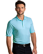Greg Norman GN20K400 Men Protek Micro Stripe Polo at GotApparel