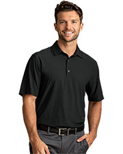 Greg Norman GNS9W341 Men X-Lite 50 Solid Woven Polo at GotApparel