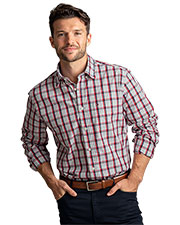 Tommy Hilfiger HILF1860 Men Baron Plaid Button-Down Shirt at GotApparel