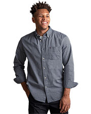 Tommy Hilfiger HILF1861 Men Chambray Button-Down Shirt at GotApparel