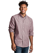Tommy Hilfiger HILF1863 Men Gingham Button-Down Shirt at GotApparel
