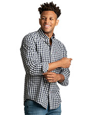 Tommy Hilfiger HILF1865 Men Stall Check Button-Down Shirt at GotApparel