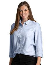 Tommy Hilfiger HILF4378 Women 's  New England Oxford Shirt at GotApparel