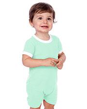 Unisex Infants Scoop Neck Short Sleeve Romper at GotApparel