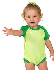 Unisex Infants Raglan Short Sleeve Bodysuit (Same I1P0508) at GotApparel