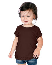 Infants Crew Neck Lettuce Edge Short Sleeve at GotApparel