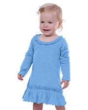 Infants Sunflower Long Sleeve Dress at GotApparel