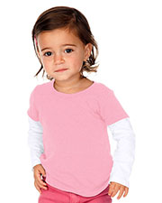 Unisex Infants Two-fer Long Sleeve Top (Same I1C0303) at GotApparel