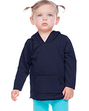 Infants French Terry Raw Edge Long Sleeve Hoodie w.Pouch at GotApparel