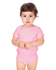 Unisex Infants Interlock Lap Shoulder Short Sleeve Bodysuit at GotApparel