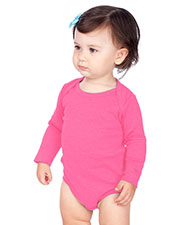 Unisex Infants Interlock Lap Shoulder Long Sleeve Bodysuit at GotApparel